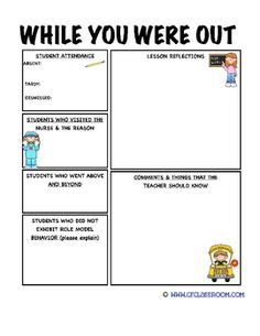 Beginning Middle And End Of The Year Emergency Sub Plans For - Substitute lesson plan template