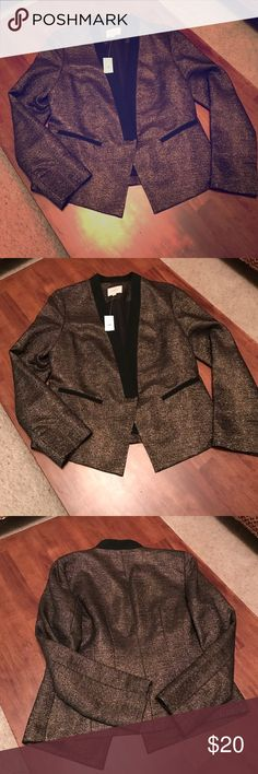 Brand new loft tux style gold metallic blazer 10 Brand new with tags. Great style! Perfect for a night out. Great for holidays! LOFT Jackets & Coats Blazers