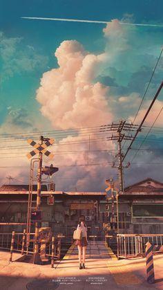 Anime Backgrounds Wallpapers, Anime Scenery Wallpaper, Animes Wallpapers, Cute Wallpapers, Wallpaper Wallpapers, Whats Wallpaper, View Wallpaper, Galaxy Wallpaper, Sky Aesthetic