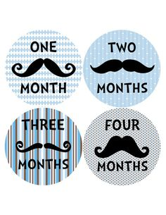 Mustache Baby BluesMonthly Onesie Stickers for by BuddhaBellies, $9.00