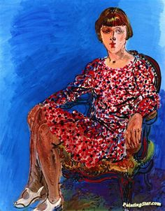 Portrait of a Young Woman Seated on an Armchair Artwork by Raoul Dufy Hand-painted and Art Prints on canvas for sale,you can custom the size and frame