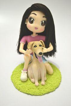 Topo de Bolo Debutante e seu cachorrinho - Festa de 15 Anos - Ideais de decoração de Festa
