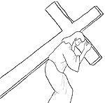 Bible Coloring Jesus Carrying Cross