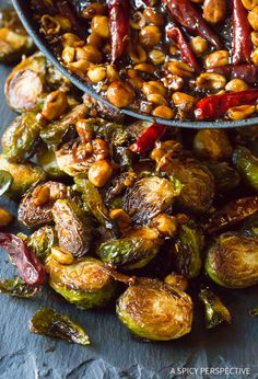 Kung Pao Roasted Brussels Sprouts - A Spicy Perspective