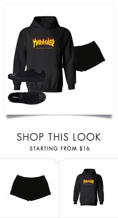 """""""emo chick trendy yo"""" by rachel-hussein on Polyvore featuring Express, WithChic, Converse and thrasher"""
