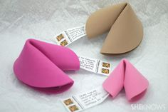A brilliant idea, and so easy to do - a foam sheet fortune cookie which you can send through the mail! I know I'd love to receive one