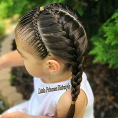 Pin on cabelos Pin on cabelos Little Girl Hairdos, Lil Girl Hairstyles, Braided Ponytail Hairstyles, Princess Hairstyles, Cool Hairstyles, Curly Hair Styles, Natural Hair Styles, Girl Hair Dos, Birthday Hair