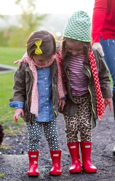 Love these Hunter Boots for Little Girls!
