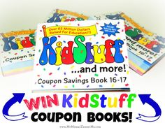 Enter to Win KidStuff Coupon Savings Book for 2016-2017 (FOUR Winners!!)