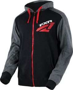 43fc6f43e682 FXR Men's PACE HOODIE (2015) - Charcoal-Grey-Red. $69.99. #UpNorthSports