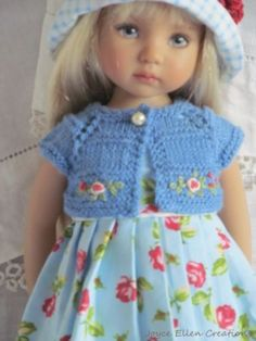 13-Effner-Little-Darling-BJD-fashion-blue-rose-dress-set-OOAK-handmade-by-JEC
