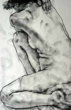 One of my figure drawings - charcoal on paper (20 minute pose).