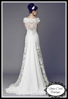 1000 images about wedding swag on pinterest claire for Wedding dress with swag sleeves