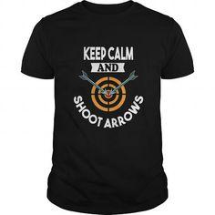 I Love Archery Shirt  Keep Calm and Shoot Arrows Funny Tshirt Archery Archer Gift T shirts