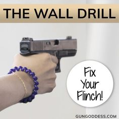 If you want to overcome a trigger jerk or a flinch, the Wall Drill is the perfect way to fix these issues. This drill is all about trigger control AND its a dry fire drill, so you can do it anywhere its safe to work with your firearm. Pistol Shooting Tips, Shooting Targets, Shooting Guns, Shooting Range, Shooting Bench, Archery Targets, Shooting Sports, Weapons Guns, Guns And Ammo