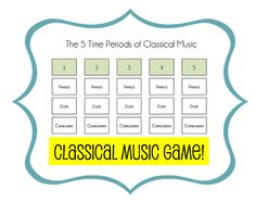 Time Periods of Classical Music Song