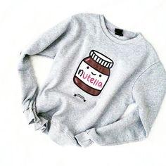 Nutella sweater, so cute