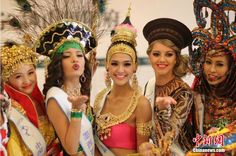 Finalists for global contest of Miss Ecotourism show up in Nanjing