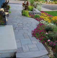 natural stone patios landscape design Waterloo