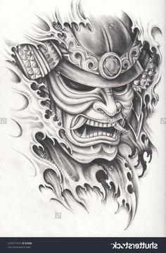 Japanese Warrior Mask Tattoos Japanese Samurai Warrior Tattoo Designs ...