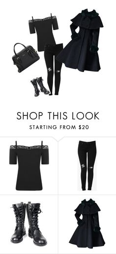 """dark"" by caitlincatastrophe95 ❤ liked on Polyvore featuring Boohoo, Hudson Jeans, deepstyle and Kate Spade"