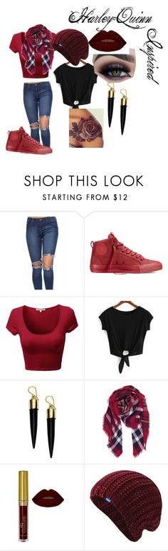 Light Punk(Harley Quinn inspired) by ashleywilliamsbrown on Polyvore featuring Converse, FOSSIL, Humble Chic, Keds and modern