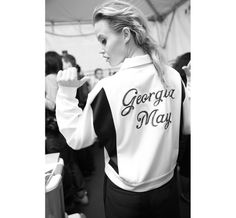 Le top Georgia May Jagger avec sa veste Rag & Bone en backstage du show http://www.vogue.fr/mode/inspirations/diaporama/les-coulisses-de-la-fashion-week-automne-hiver-2014-2015-de-new-york-jour-1-fw14/17469/image/934348#!le-top-georgia-may-jagger-avec-sa-veste-rag-amp-bone-en-backstage-du-show