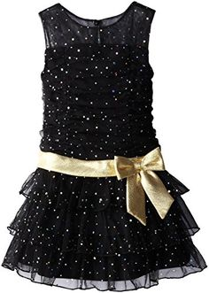Bonnie Jean Little Girls' Spangle Mesh Dropwaist To Tiers, Black, 5 Bonnie Jean http://www.amazon.com/dp/B00M40ALY4/ref=cm_sw_r_pi_dp_OboDub09WWRCE