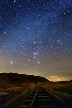 Orion on the Tracks at Fintown | by Donegal Skies