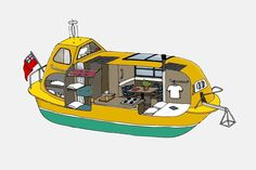 Two architects, their dog and a repurposed Scottish Lifeboat on a 5,000 km journey of a lifetime! | Yanko Design Boat Building Plans, Boat Plans, Bushcraft, The Longest Journey, Boat Projects, Norway Travel, Tromso, Arctic Circle, Camping