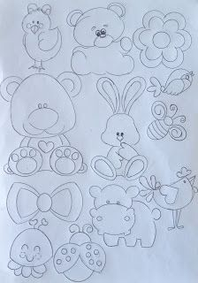 40 Creative Drawing Ideas and Topics for Kids Felt Patterns, Applique Patterns, Applique Designs, Quilting Stencils, Hand Embroidery Designs, Embroidery Fonts, Drawing For Kids, Drawing Ideas, Fabric Painting
