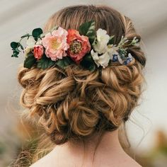 Francesca Flower Hair Comb – bridal hair inspiration - All For New Hairstyles Wedding Hair And Makeup, Wedding Hair Accessories, Bridal Hair Flowers, Wedding Flowers, Bridal Hair Inspiration, Floral Headpiece, Rose Hair, Floral Hair, Bridesmaid Hair