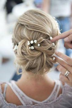 elegant bridal updo hairstyle - Deer Pearl Flowers / http://www.deerpearlflowers.com/wedding-hairstyle-inspiration/elegant-bridal-updo-hairstyle/
