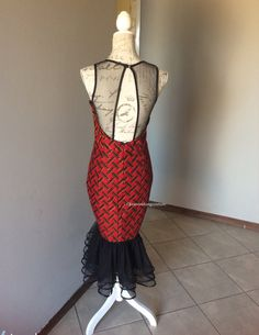 Robe imprimée africain avec maille top