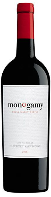 Monogamy, Cabernet Sauvignon We got this as a wedding gift. <3 Actually pretty good.
