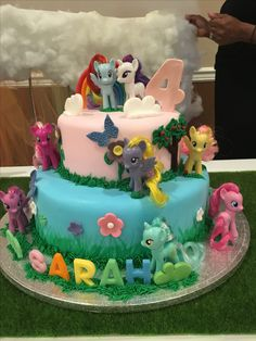 My Little Pony Birthday Cake MLP Pinterest