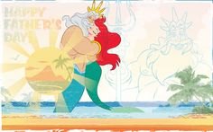 My daughter, Raven, says that her dad is like King Triton - just the right mix of 'nice and cuddly' and 'strict patrol person.' I think the true comparison is how much these fathers love their daughters. Blog Wallpaper, Disney Wallpaper, Cartoon Wallpaper, Fathers Love, Happy Fathers Day, Disney Art, Walt Disney, Disney Stuff, Disney Parks Blog