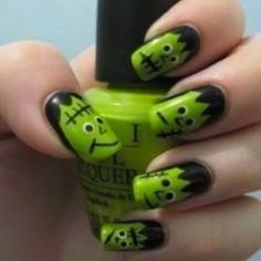 Frankenstein Nails!!