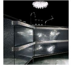 ༻⚜༺ ❤️ ༻⚜༺ The Swarovski Diamond Kitchen via Marquette Turner Luxury Homes ༻⚜༺ ❤️ ༻⚜༺