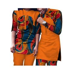 Dashiki African Clothing Matching Style For Couple Men and Women Top-Pants Nigerian Outfits, Nigerian Men Fashion, African Men Fashion, African Women, Couples African Outfits, Couple Outfits, African Attire, Twin Outfits, African Wear Styles For Men