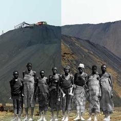 Congolese artist Sammy Baloji combines images of past industry with modern photographs in a patchwork of memory and regret.