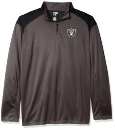 #NFL #Oakland #Raiders #Men 1/4 #ZIP #POLY #JERSEY, #STORM #GREY/BLAC | #Bydepot Nfl Oakland Raiders, Hoodies, Sweatshirts, Zip, Grey, Long Sleeve, Mens Tops, Jackets, Fashion