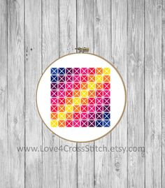 Square Cross Stitch Pattern Modern, Geometric Squares Cross Stitch , Square Shape Cross Stitch, Rainbow Cross Stitch Pattern, Easy Cross  This PDF counted cross stitch pattern available for instant download. Floss: DMC Fabric: AIDA 14-count ( other AIDA Fabric Counts may be used, the finished pattern will be different in size) Number of Colors: 8 Full Cross stitches only Size:87 x 87 stitches( 6.21 x 6.21 on 14 ct Aida)   There is no background around the butterfly to be stitched. You can…