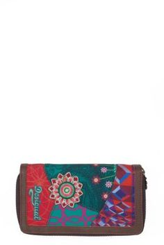Desigual women's Zippallaround Annelise purse with zip fastening. Continental Wallet, Women's Accessories, Are You Happy, Health And Beauty, Purses, Bags, Collection, Zip, Fashion
