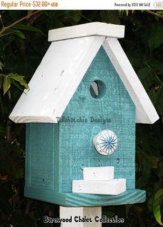 25% Off FLASH SALE Birdhouse Barnwood Birdhouse Chalet Birdhouse Colorful  Birdhouse Chickadee Birdhouse