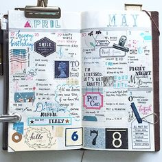 wk of Apr. Smash Book, Life Journal, Journal Notebook, Moleskine, Creative Journal, Pen And Paper, Travelers Notebook, Journal Inspiration, Scrapbooking