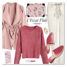 """I Wear Pink"" by oshint ❤ liked on Polyvore featuring A.L.C., Rodin and Tiffany & Co."