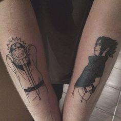 Fazer uma dessa com o marido (se eu tiver um um dia) Tattoos Anime, Naruto Tattoo, Hair Tattoos, Mini Tattoos, Body Art Tattoos, Sleeve Tattoos, Tatoos, Hand Poked Tattoo, Poke Tattoo