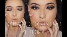 How to: Too Faced Chocolate bar palette Halo eye tutorial - YouTube