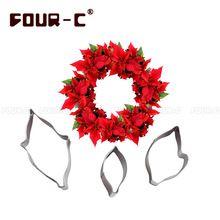 La más nueva llegada de la Navidad flor fondant cake decorating cortador set 3…